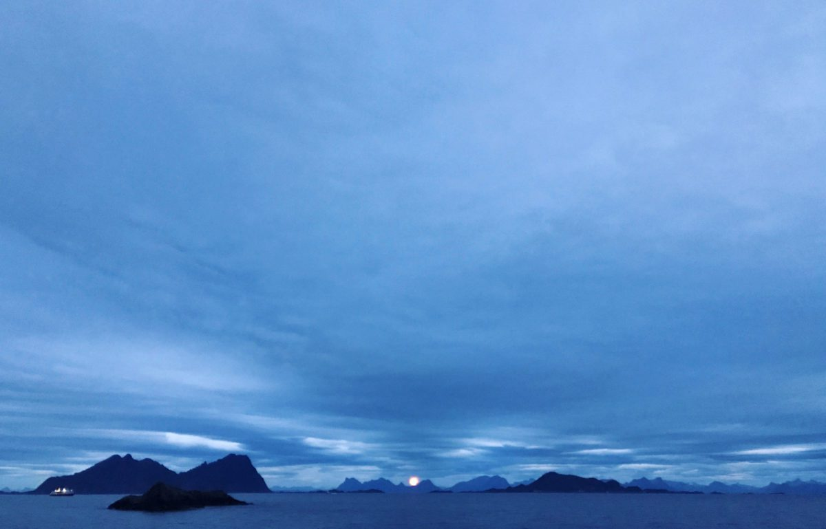 A moon in Lofoten.