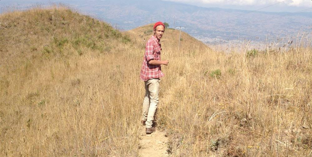 Wearing a beanie in summer in Africa.