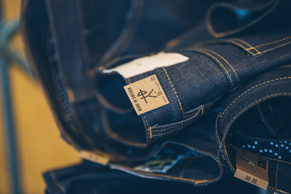 Sarva denim jeans up close