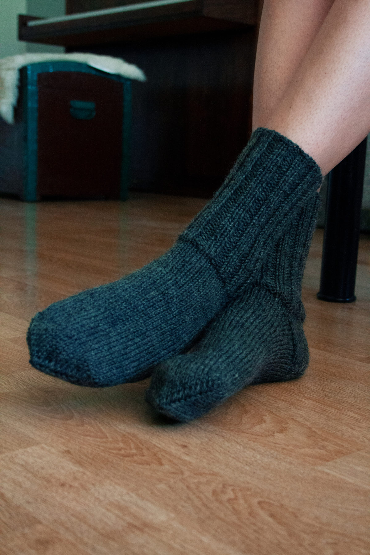 Hand knit wool socks