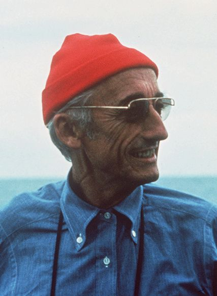 Jaques Cousteau, inspiration for Life Aquatic