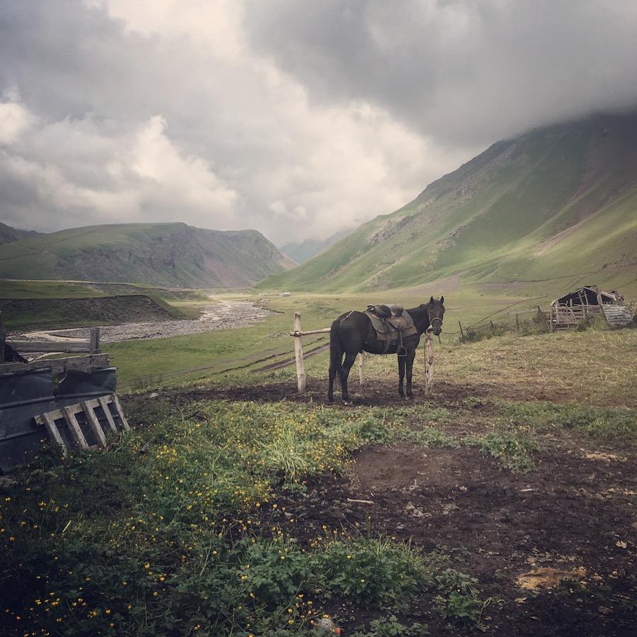 Rysk natur nära Mount Elbrus