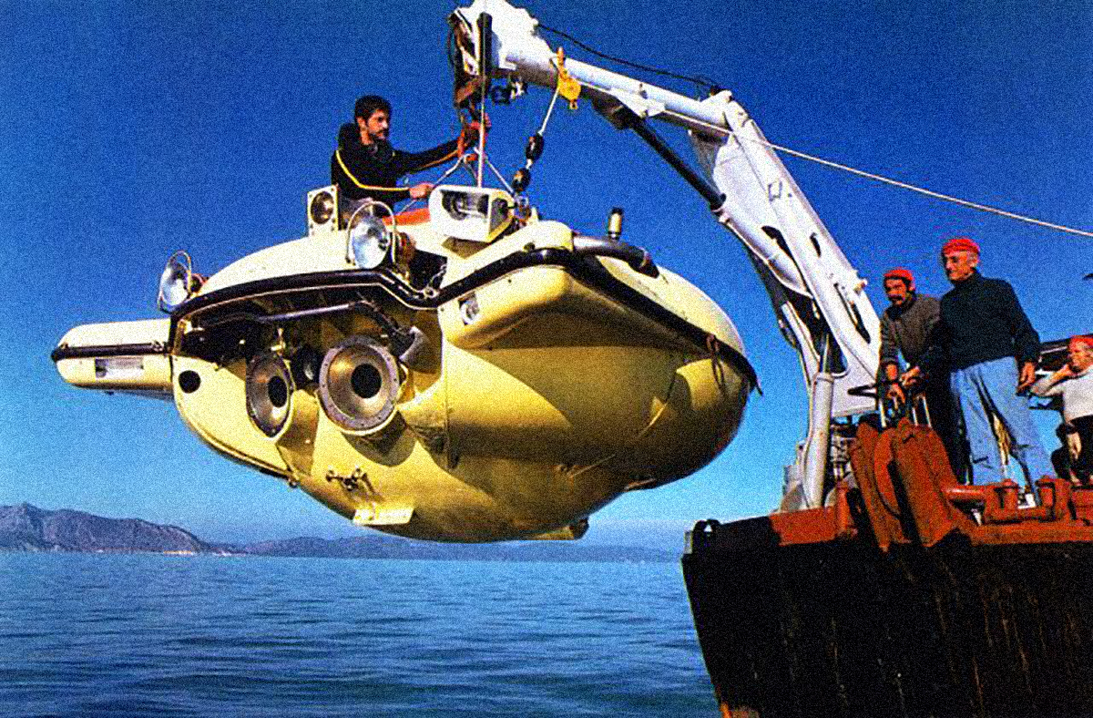 "Jaques Costeau's diving saucer, SP-350, or ""Denise."""