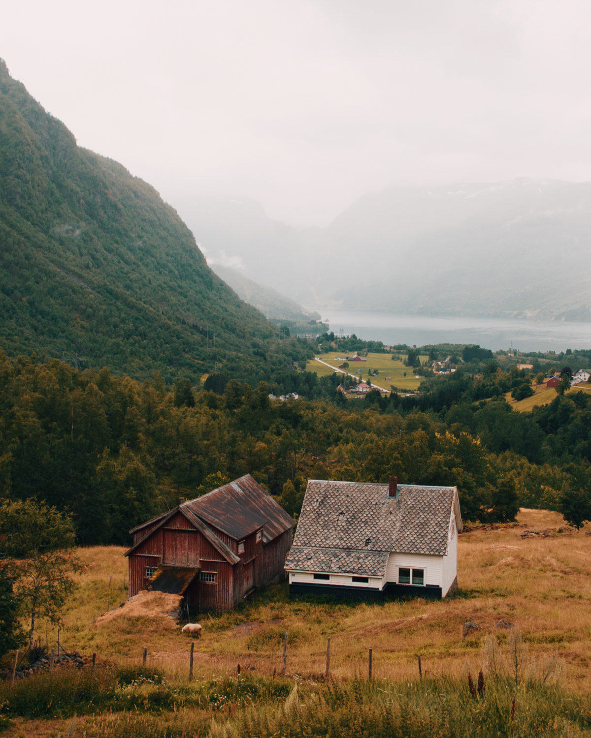 Houses in Røldal, Norway