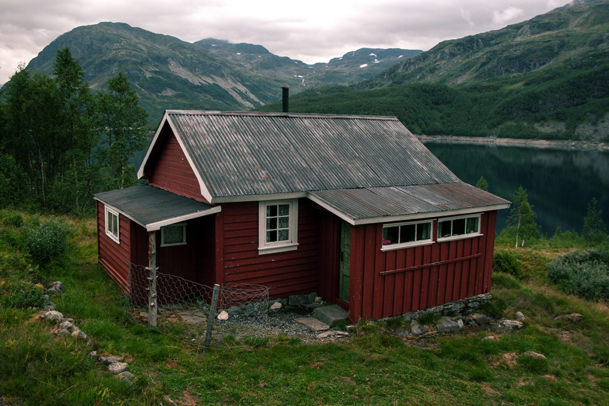 Little red cabin in Røldal, Norway
