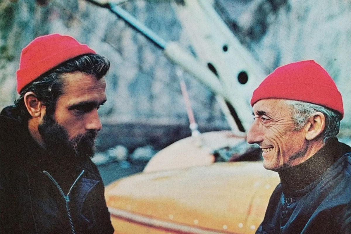 Jaques and his son Philippe Cousteau