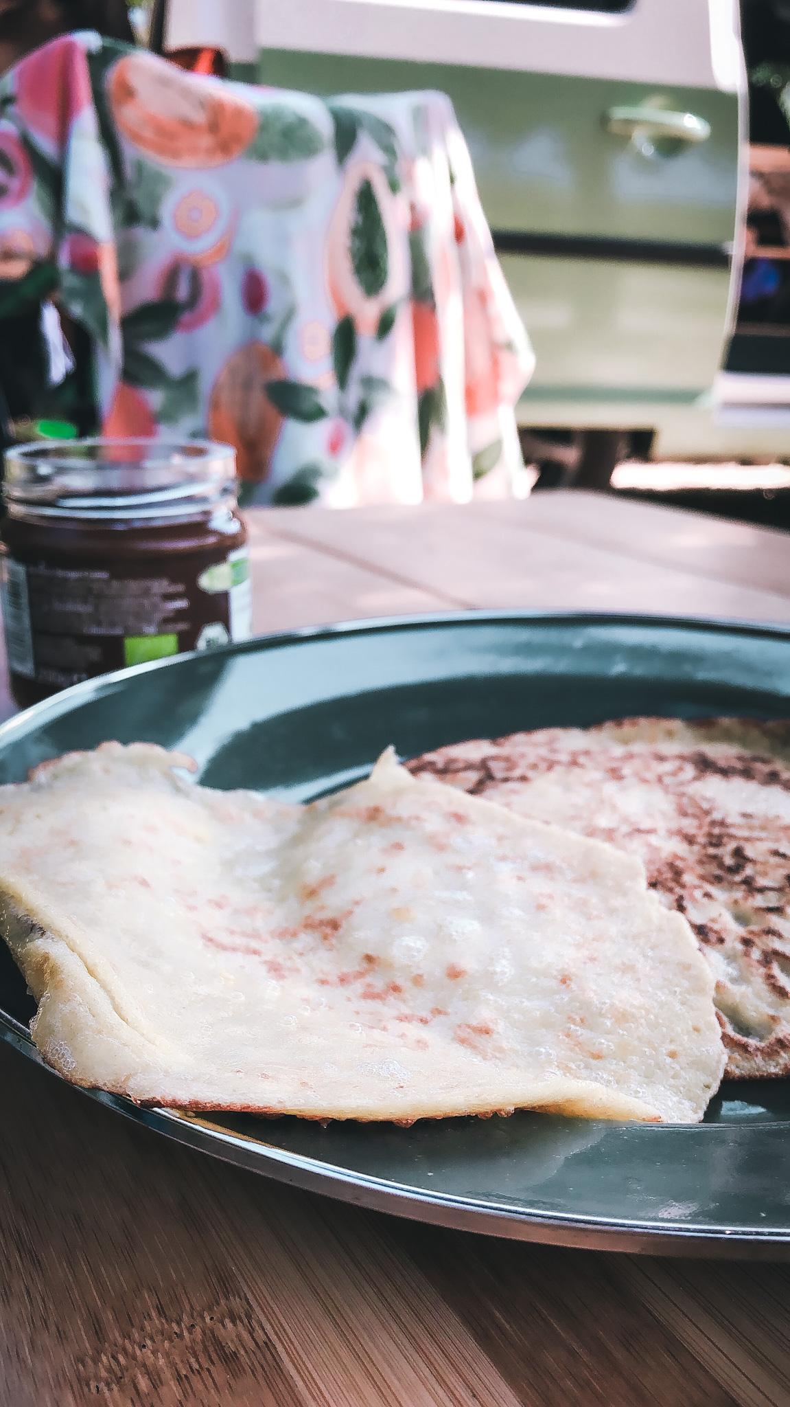 Pancakes and vanlife on Lefkada