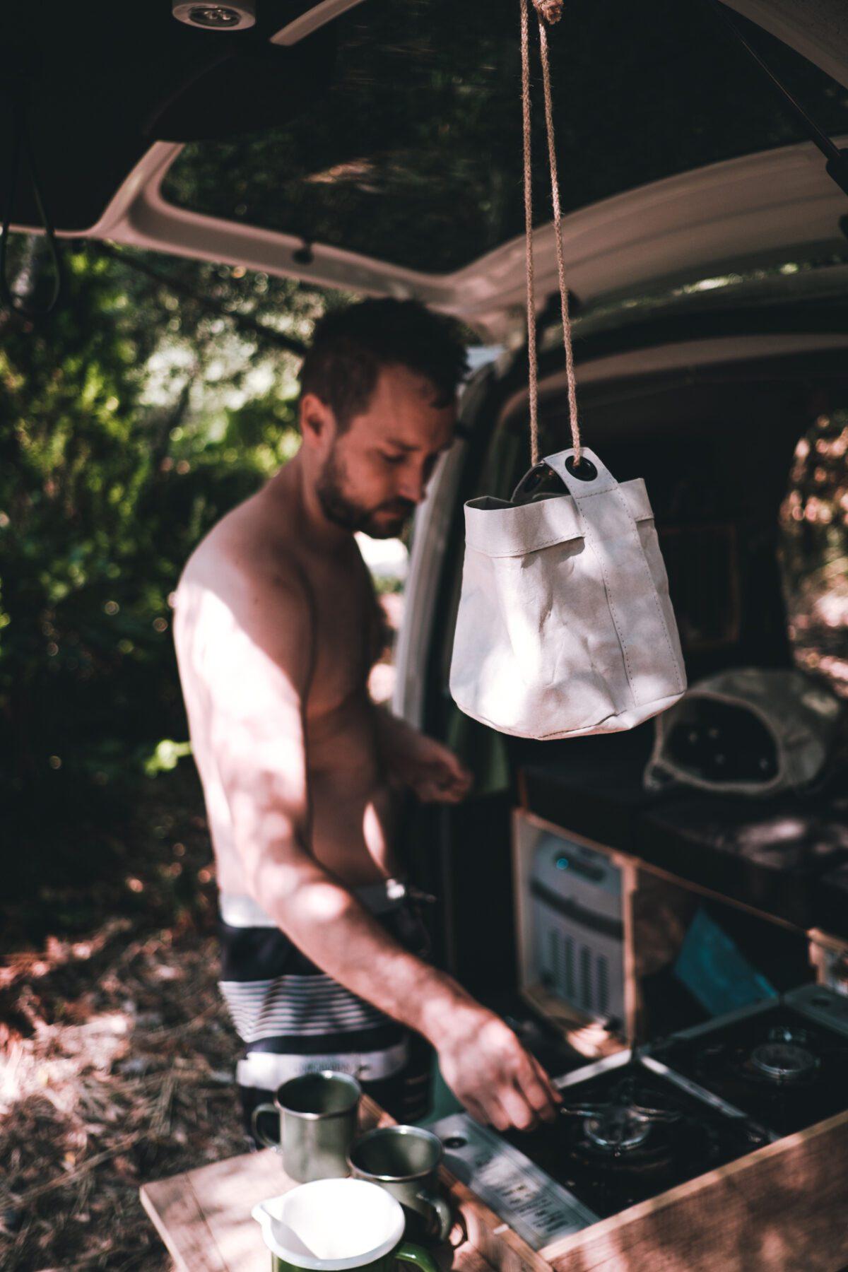 Boiling coffee on Lefkada