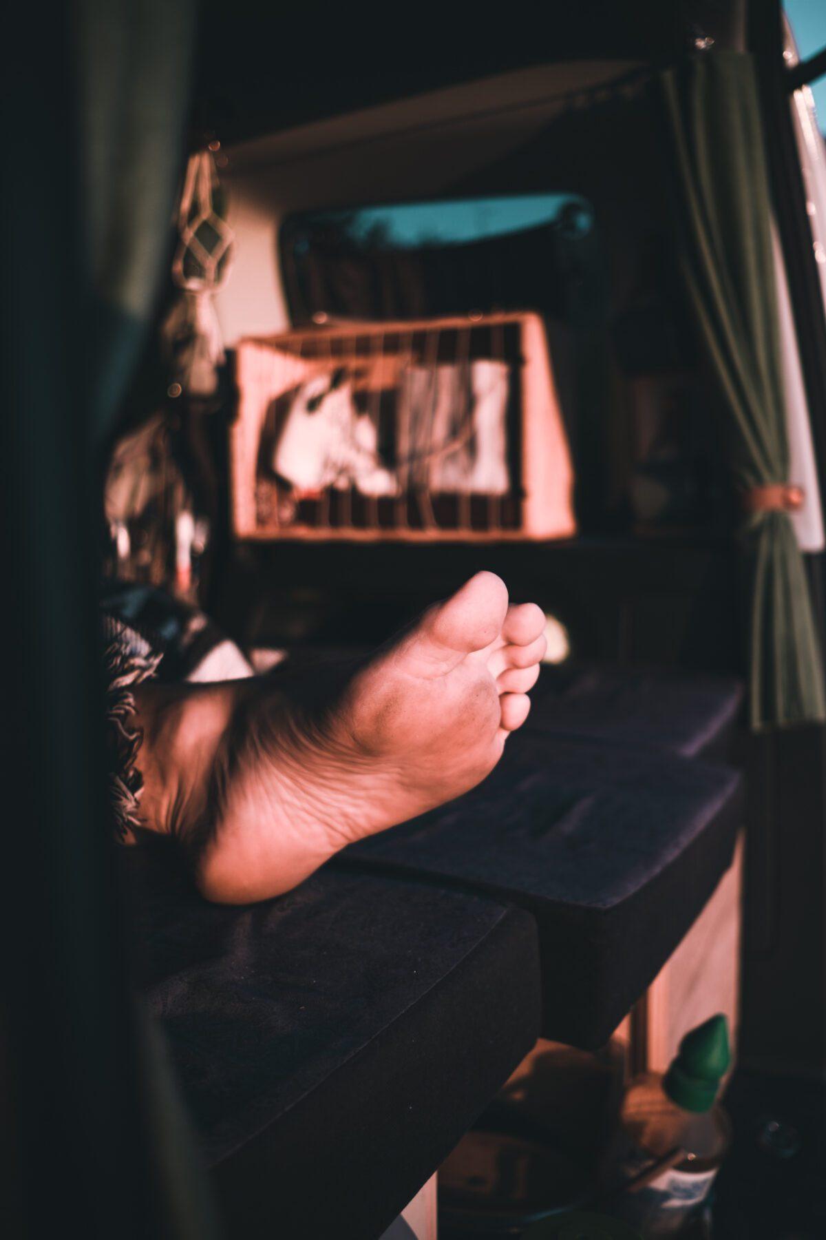 Sleeping in a van