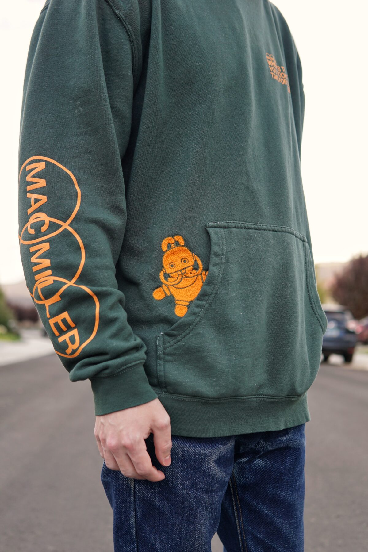 Chainstitch embroidered sweater