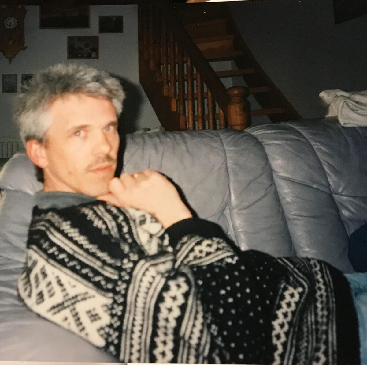 Wool sweater, hand knit.