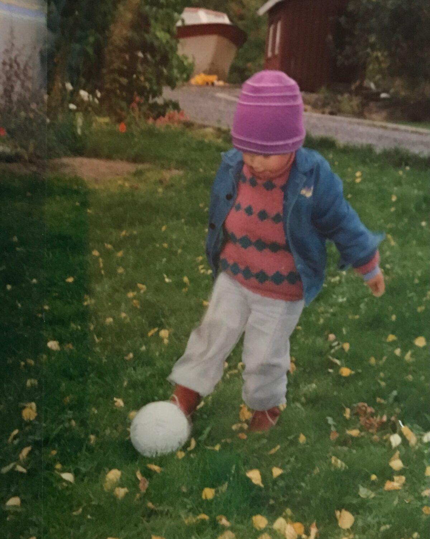 Wool clad football player.