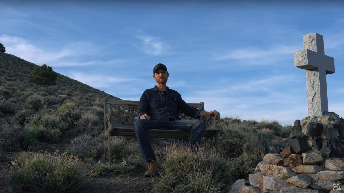 Brent Underwood on a bench.