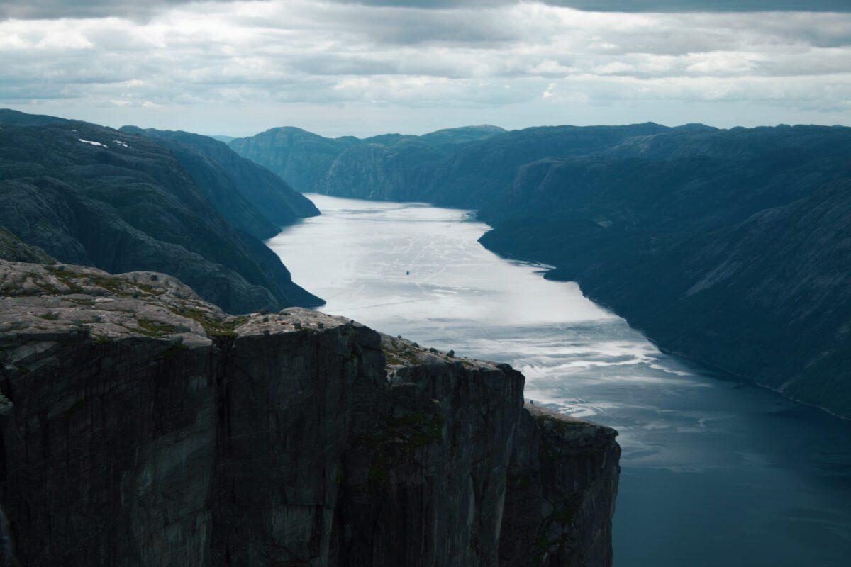 Lysefjorden overview.