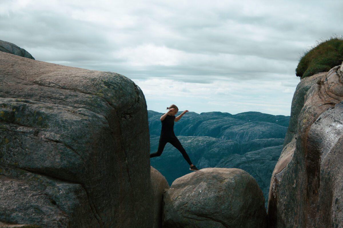 Leaping onto Kjeragbolten