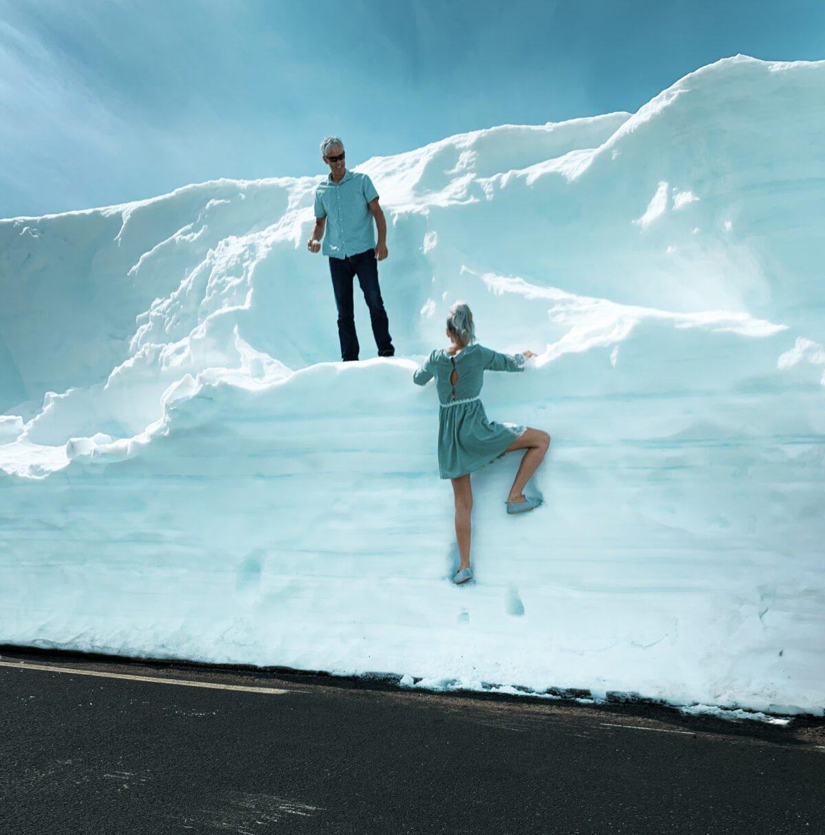 Brokke–Suleskard. Snow piles.